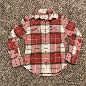Abercrombie kids plaid flannel shirt